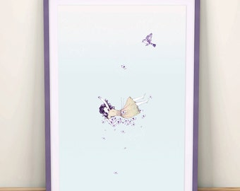 Up in the air print - A3
