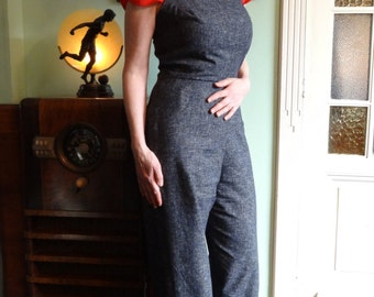 Overalls 'Roxy'  made-to-measure from a vintage '50s pattern