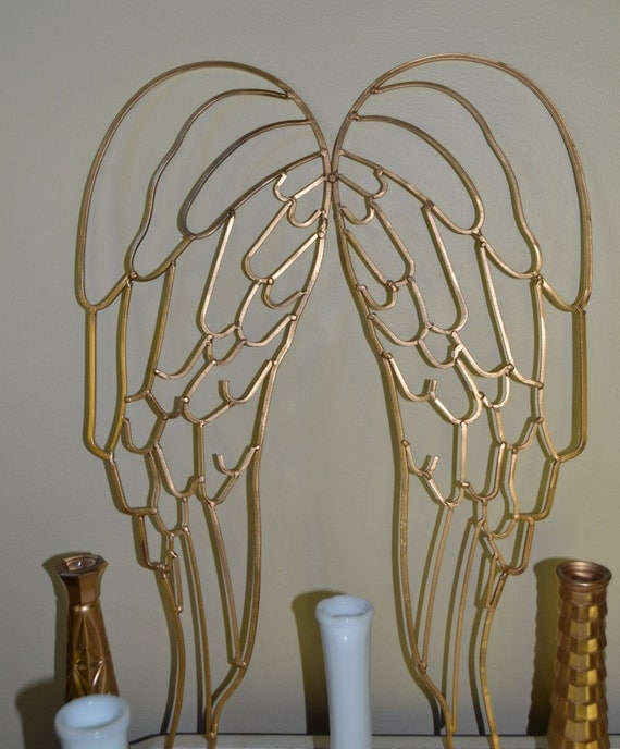 Gold Metal Angel Wings Wedding Home Decor