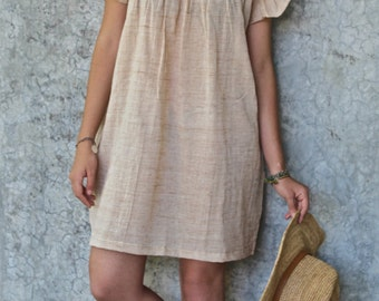 Organic Cotton & Hand Embroidery from the state of Puebla !!! Beautiful Summer Dress!!!