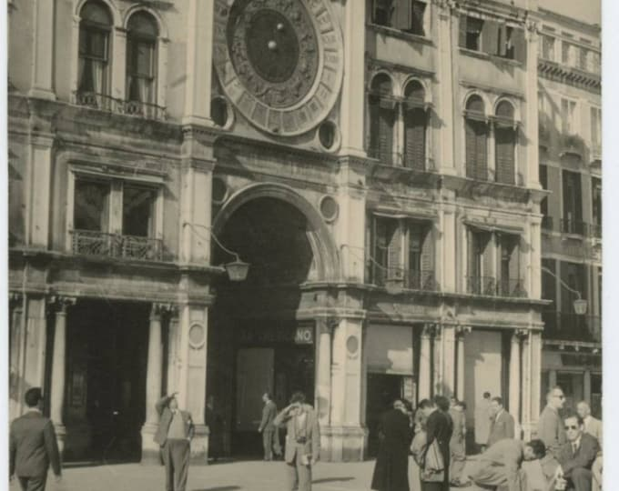 Venice, St. Mark's Square, 1960 Vintage Snapshot Photo (59413)