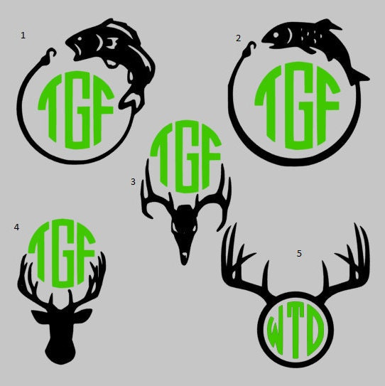 Manly fishing hunting deer antler fish bass yeti for Hunting and fishing decals