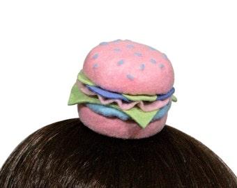 Kawaii Pastel Hamburger Hair Clip