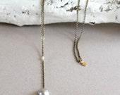 Y Necklace Antique Brass ...