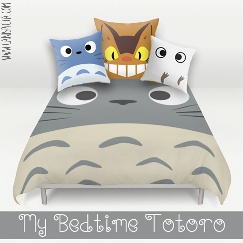 Totoro Bed Set: Totoro Bed Set Duvet Bedding Pillow Cover Kawaii My Neighbor