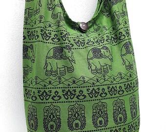Women bag Handbags Cotton bag Elephant bag Hippie Hobo Boho bag Shoulder bag Sling bag Messenger bag Tote bag Crossbody Purse Olive Green
