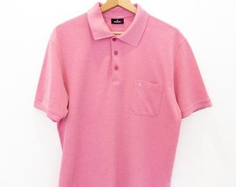 RAGMAN vintage pink polo shirt 100% cotton size L with chest pocket