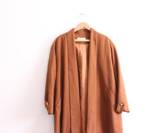 Vintage 60s Cocoa Swing Coat