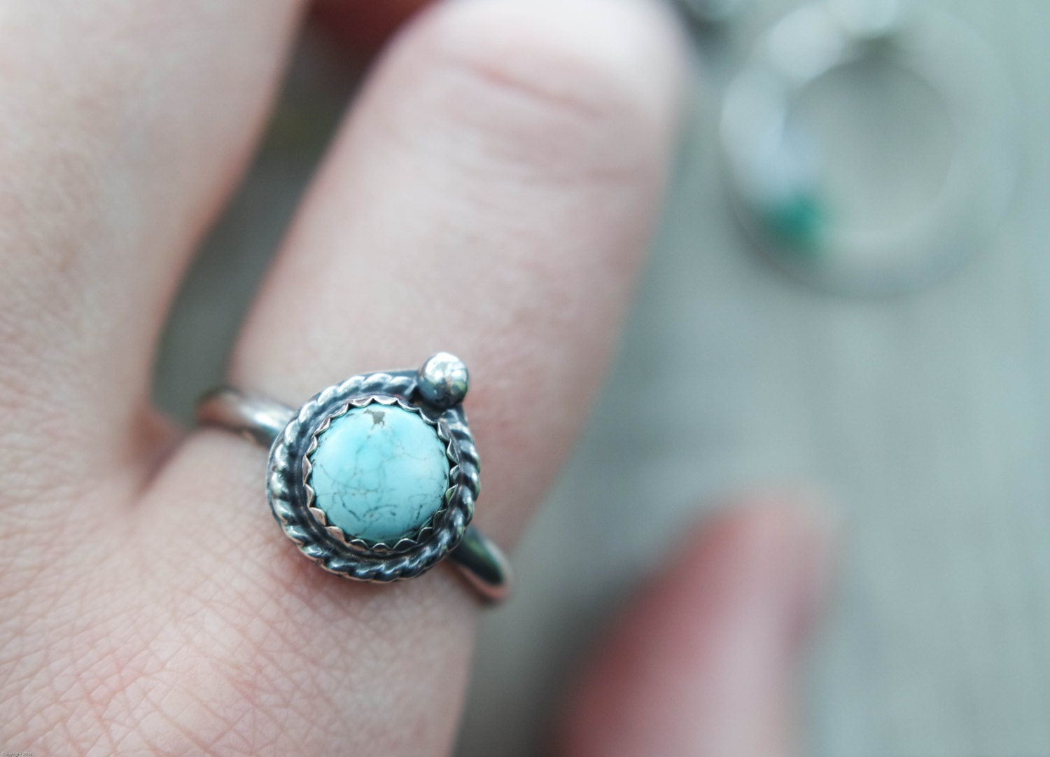 custom turquoise ring handmade made to order turquoise. Black Bedroom Furniture Sets. Home Design Ideas
