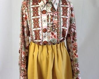 70s paislay blouse