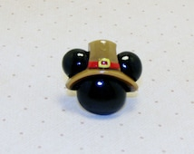 Pilgrim Mickey Mouse Rings, Pilgrim Ring, Mickey Mouse Ring, Adjustable Ring, Holiday Ring, Thanksgiving Ring, Thanksgiving Jewelry