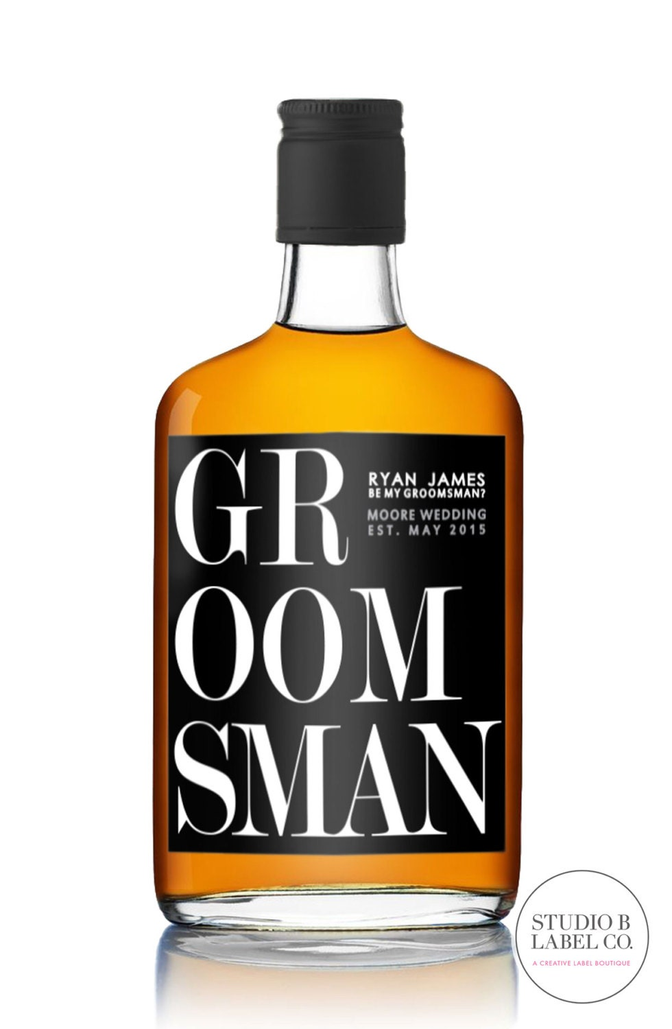 Be my groomsman liquor labels will you be my groomsman label for Groomsman liquor bottle labels