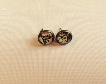 Swallows & Amazons Vintage Book Stud Earrings