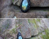 Labradorite Sunset - OOAK Hand Sculpted Clay Necklace