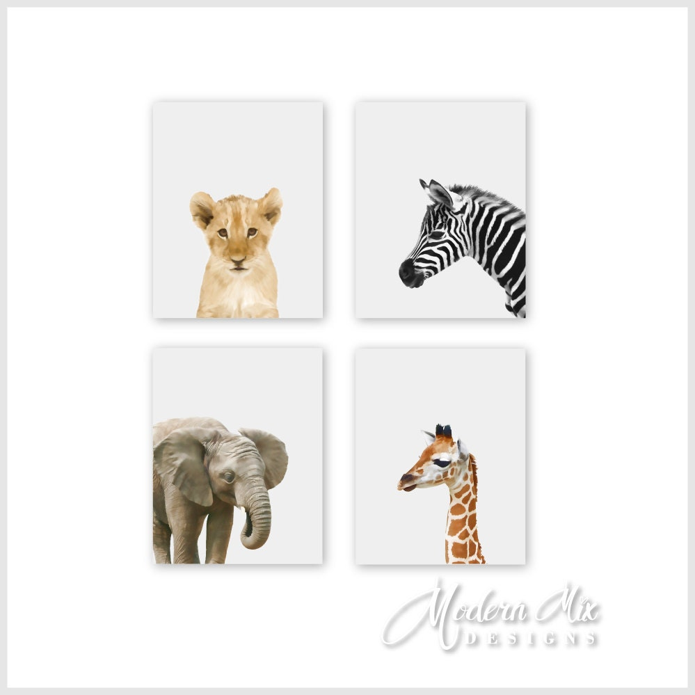 baby animal prints for nursery safari nursery art baby