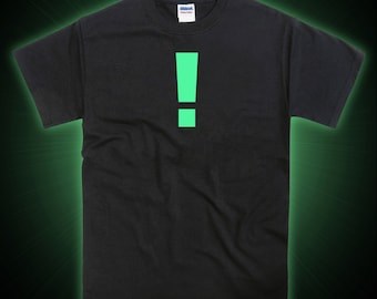 Metal Gear Solid MGS Inspired Exclamation Mark Glow in the Dark Tshirt