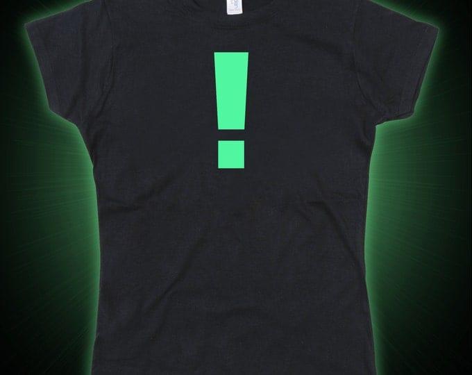 Ladies Metal Gear Solid MGS Inspired Exclamation Mark Glow in the Dark Tshirt
