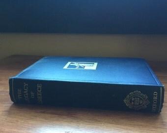 Blue Gold Vintage Book Legacy of Greece Clothbound Hardback Illustrated
