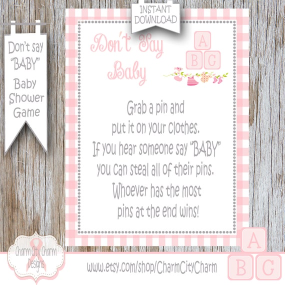 baby baby shower game clothes pin game pink baby blocks baby shower