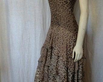 Silk Burnout Animal Print Dress - Paris