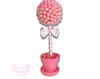 Pink Lollipop Baby Shower Topiary, Its a Girl Centerpiece, Baby Girl Shower Ideas, Baby Shower Centerpiece, Girl Baby Shoer Themes, Candy