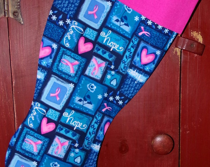Breast Cancer Awareness Christmas Stocking