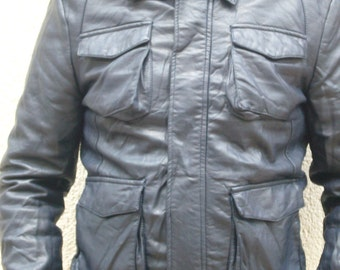 Leather Look Jacket.