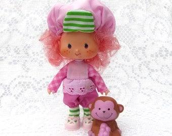 Vintage Strawberry Shortcake Doll Raspberry Tart with Rhubarb Monkey