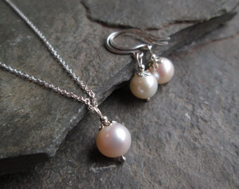 Bridal Jewellery Set - Bridal Earrings, Bridal Necklace, Jewelry Set, Bridesmaid Jewellery, Pearl Jewellery, Pearl Earrings