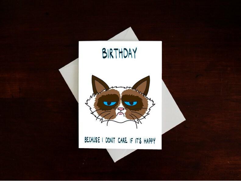Snap Grumpy Cat Card Etsy Uk Photos On Pinterest