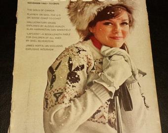 Vintage 1963 November Issue of Playboy Magazine