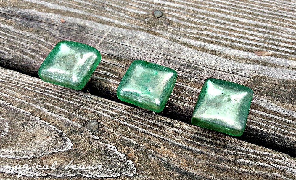 Green Glass Cabinet Knobs And Drawer Pulls: Glass Drawer Knobs Square Green Cabinet Knobs Coastal