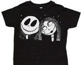 Jack & Sally Toddler Tee Nightmare before Christmas TNBC: 100% cotton jersey