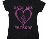 Bats are Friends: Soft Ringspun Cotton Women's Cut T-Shirt