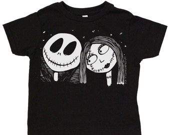 Jack & Sally Toddler Tee Nightmare before Christmas TNBC: 100% cotton jersey