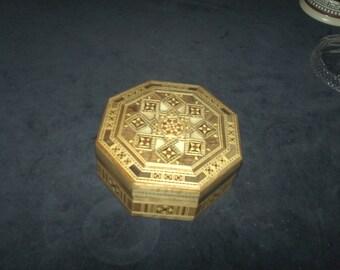 Inlaid Wooden Trinket / Jewelry Box