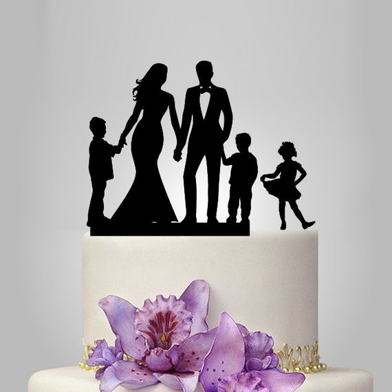 funny family wedding cake toppers family wedding cake topper with 2 boy and 1 by 14544