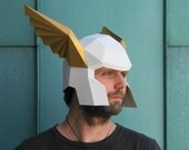 Winged Herald's Helmet  - Make your own using a simple PDF download