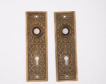 Antique Flower Back Plates, Bronze 530019