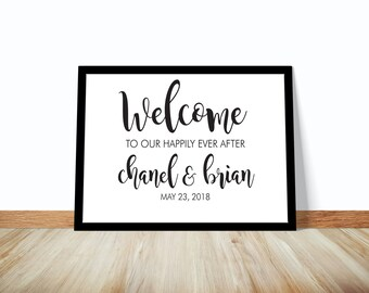 Modern Calligraphy Welcome Wedding Sign, Printable Wedding Sign, Welcome Wedding Sign, Ceremony Sign, Wedding Decor, Wedding Signage
