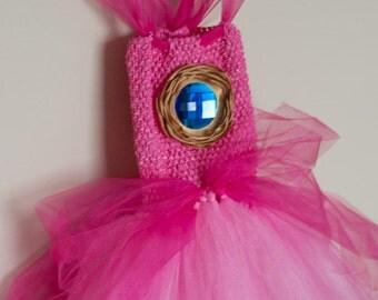 Princess Peach Inspired Tutu Dress and Crown