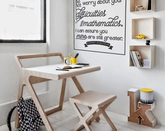 Difficulties with Math: Albert Einstein Quote Math Wall Decal