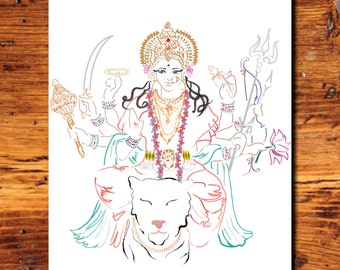 Goddess Durga (Prints)