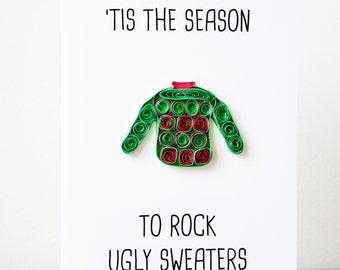 Christmas Cards 3D- Christmas Card Boyfriend - Christmas Card Husband - Funny Christmas Card -Ugly Sweater Card - Christmas Card For Dad