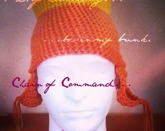 Crochet Space Cowboy Hat/Cosplay hats/Fandom/Geeks/Nerds/Scifi/Jayne Hat/Jayne Cobb inspired hat/Firefly hat/Serenity/Con Hats/Jayne cosplay
