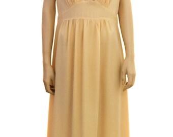 Vintage Nightgown, Trillium Peach Rayon Nightgown, 1940s Nightgown, Lace Nightgown, Rayon Nightgown, Long Nightgown, Vintage gown