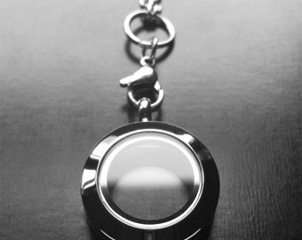 Mini Silver Floating Locket-20mm-Stainless Steel-Twist Face-Option to Add Chain-Gift Ideas for Women
