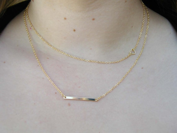 Layering Necklace Set Delicate Gold Layer Necklaces