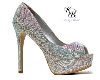 Custom Shoes, Swarovski Crystal Shoes, Bling Shoes, Bridal Bling, Bridal Shoes, Crystal Bridal Shoes, Strass, Sparkle Shoes