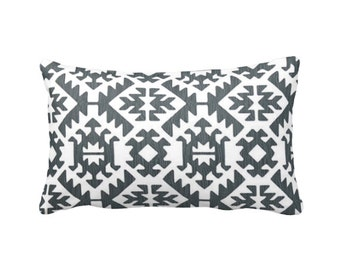 7 Sizes Available: Grey Pillow Cover Throw Pillow Cover Aztec Pillow Tribal Pillow Southwestern Pillow Gunmetal Pillow Grey Accent Pillow